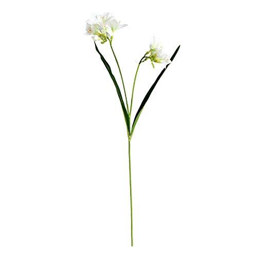 2 Gabeln Künstliche Orchidee Blume Weiß Künstliche Cymbidium Künstliche Pflanze Orchidee Blumenstrauß Decute; COR Home Hochzeit Dekor Ornament White TINGG (Color : White)