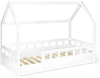 IDMarket - Lit cabane 80x160 cm NEREE Blanc