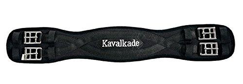 KAVALKADE Sattel-Kurzgurt Klimatex ohne Elastik, schwarz, 55 cm