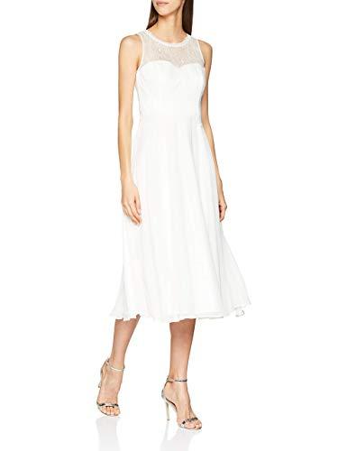 Vera Mont Damen 0203/3030 Kleid, Elfenbein (Ivory White 1040), (Herstellergröße: 34)
