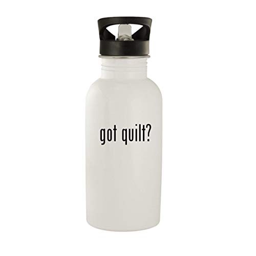 got quilt? - Stainless Steel 20oz Water Bottle, White