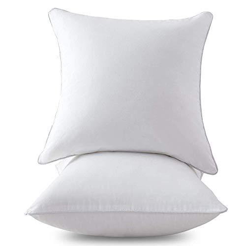 Homehold 2er Set Kissenfüllung 50 x 50 cm - Baumwollmischung Bezug - Innenkissen Füllkissen Kopfkissen Sofakissen (Weiß)