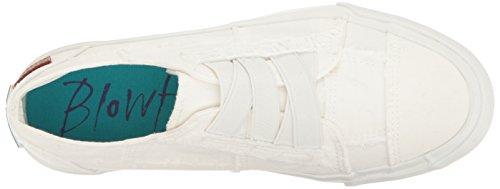 Blowfish Malibu Women's Marley Fashion Sneaker, White Color Washed Canvas, 8.5 Medium US