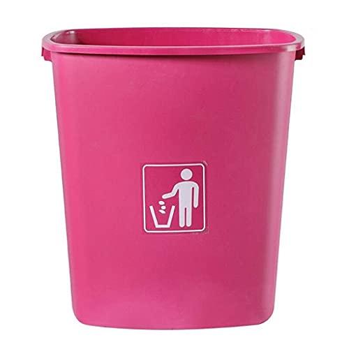 LSNLNN Papelera de Residuos, Basura de Bote de Basura en el Interior de la Basura de la Basura de la Basura Del Plástico de la Basura de la Papelera Industrial sin Tapa,Rosa,65L / 17.1Gallon