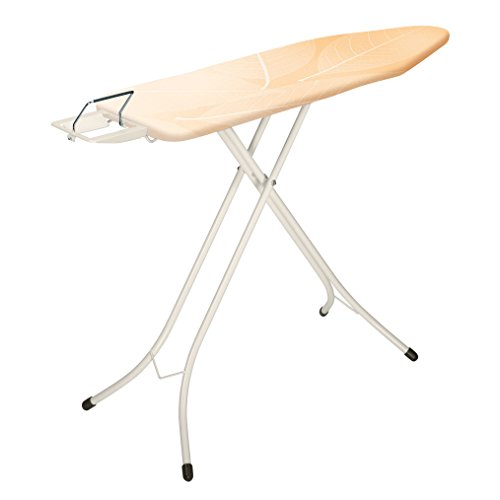 - Brabantia 310164 124 by 38-Inch Ironing Board with 22mm Ivory Frame and Leaves Cover Steam Iron Rest