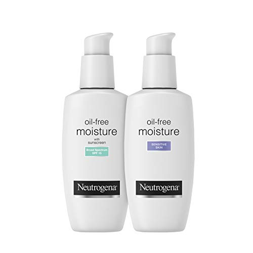 Neutrogena Oil-Free Facial Moisturizer, Sensitive Skin, 4 Fl Ounce
