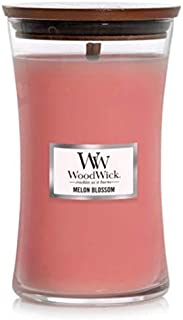 WoodWick Large Hourglass 21.5 oz Scented Jar Candle - Melon Blossom