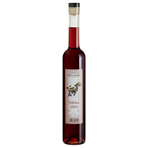 Original Schlehenlikör Höllberg 30% vol, (1 x 0.5 Liter) fruchtiger Edellikör ohne Aromastoffe | Premium Brand | Edelbrand aus Familienbrennerei