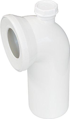 Coude de raccordement pour cuvette WC | Blanc, 21667 8