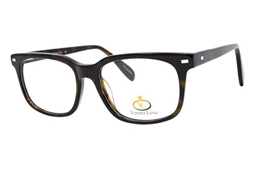 Rx-able Reading Eyeglass Frames, Mens and Women Premium Designer Acetate Hand Made Optical Frame With Rxable Demo Lenses (Classic Demi Amber)