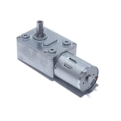 HYCy Motor de reducción de generadores para Exteriores, DC 6V 12V 24 V Motor de Engranaje helicoidal Turbo de Alto par de torsión para Campana extractora Máquina de anidación Equipo INT