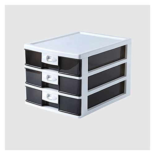 Cajón de almacenamiento Caja de almacenamiento Organizador de escritorio de 4 cajones Organizador de escritorio de plástico con cajón transparente y caja de almacenamiento de escritorio de oficina de