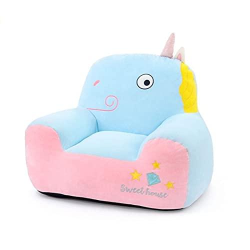 YQJ Sitzsack Kinderliege Bean Bag Schlaf Sessel Faules Sofa-Meditation Lesen Gaming TV-Schauen-Wohnzimmerliege,Zuhause,Light Blue Unicorn