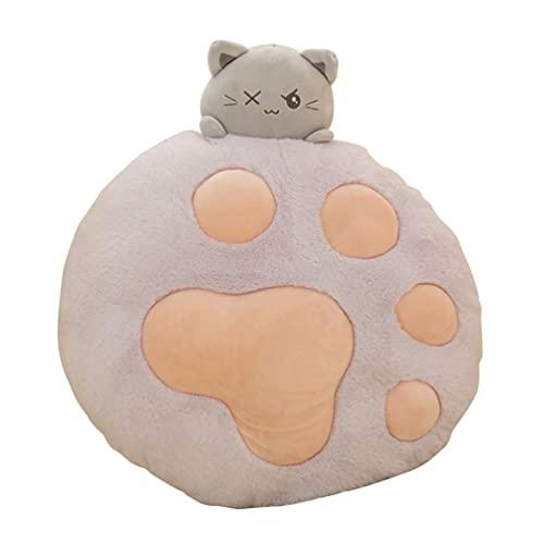 Turtle Story Almohada de felpa con forma de garra de gato para sofá, dormitorio, regalo de cumpleaños (rosa) JXNB (color: púrpura)