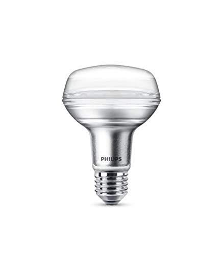 Philips bombilla LED reflectora casquillo gordo E27, 4 W equivalentes a 60 W en incandescencia, 345 lúmenes, luz blanca cálida