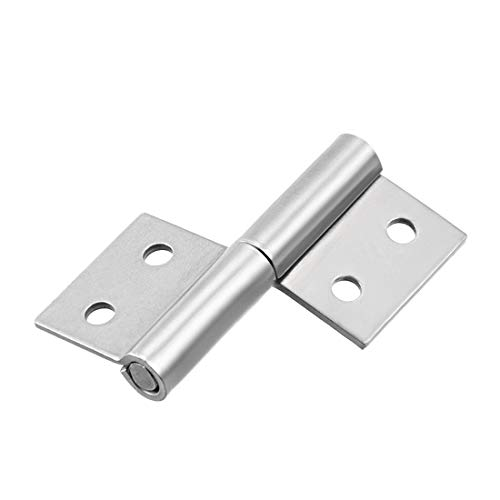 uxcell Lift Off Hinge, Stainless Steel Slip Joint Flag Hinges Right Hand Cabinet Door, 2-inch Long 4 Holes