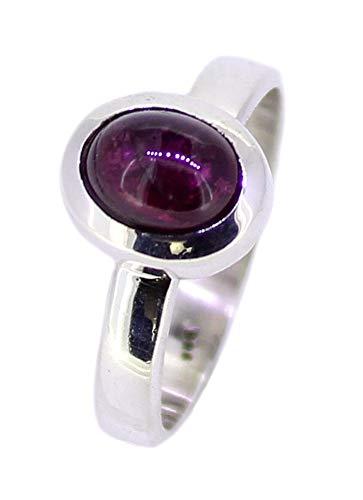 budawi® - rosa Turmalin (Rubelith) Ring Größe 58, Turmalinring 925er Silberring