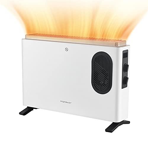 Aigostar Blanc - Calefactor Convector Bajo Consumo, Convector Turbo, termostato...