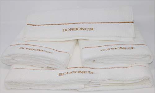 Borbonese Set 5 Asciugamani Art. Fine Op (2 Coppie Spugna + 1 Telo)...