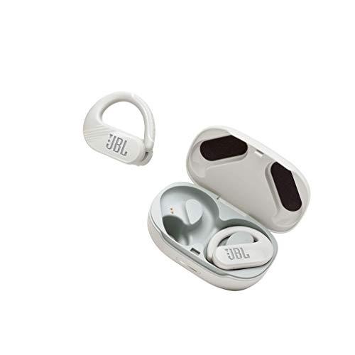 JBL Endurance Peak II True-Wireless In-Ear-Sportkopfhörer in Weiß - Wasserfeste Bluetooth Earbuds mit Bügel und Dual Connect - 30h Wiedergabezeit für Workouts mit Power