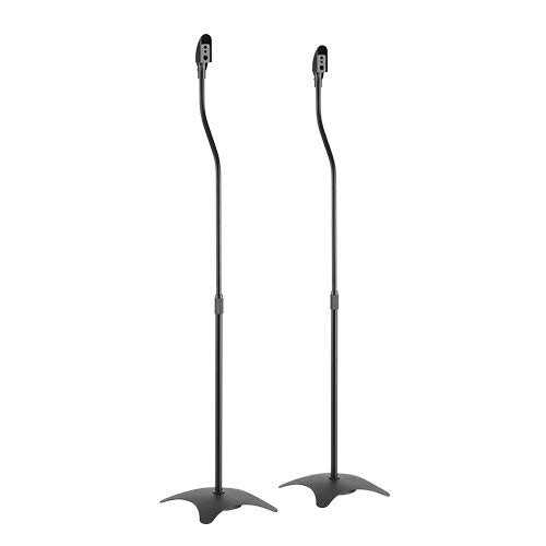 ZIPP Height-Adjustable Metal Satellite Speaker Floor Stand YSS-01 (Black)