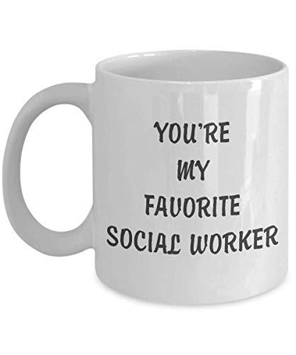 Lustige Kaffeetasse personalisierte Tassen 11 Unzen drucken Tasse Freund Freund Geburtstag Familie Geschenk-Sie sind meine Lieblings-Sozialarbeiter Tasse