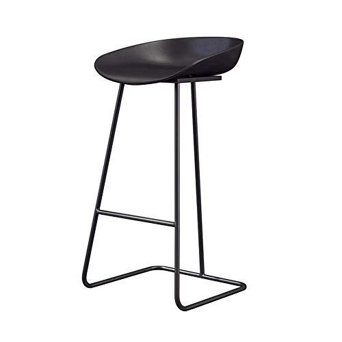 JIEER-C stoelen voor de vrije tijd, barkruk, eetkamerstoel van ijzer, hoge kruk, ergonomisch comfort, thuiskantoor, duurzaam 80cm T1