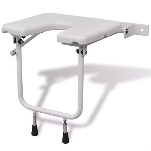 vidaXL Duschklappsitz mit Hygieneausschnitt Duschsitz Duschhocker Stuhl klappbar