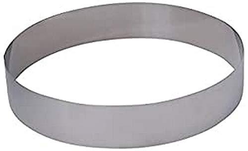 De Buyer - Moldes redondos para pasteles o canapés, acero inoxidable, 20 cm x 4.5 cm