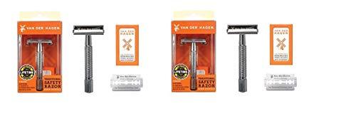 Price comparison product image Van Der Hagen - Safety Razor with 5 Steel Blades(pack of 2)