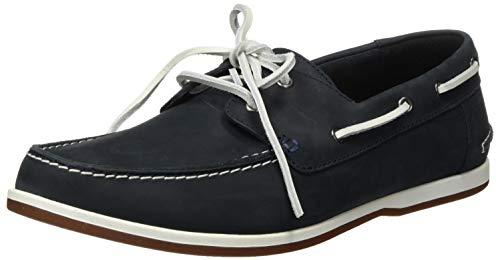 Clarks Herren Pickwell Sail Segelschuhe, Blau (Navy Leather), 47 EU