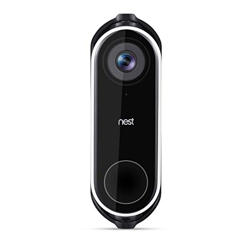 Wasserstein Adjustable Angle Wall Mount Compatible with Nest Hello Video Doorbell - Adjust Your Nest Hello flexibly (Black)