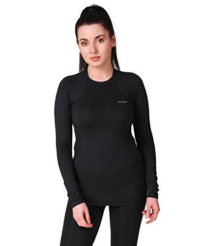 Columbia Midweight Stretch Long Sleeve Top Camiseta térmica de Manga Larga, Mujer, Black, S