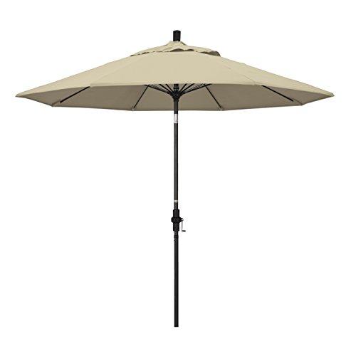 California Umbrella GSCUF908705-5422 9' Round Aluminum Pole Fiberglass Rib Market Patio Umbrella, 9-Foot, Antique Beige