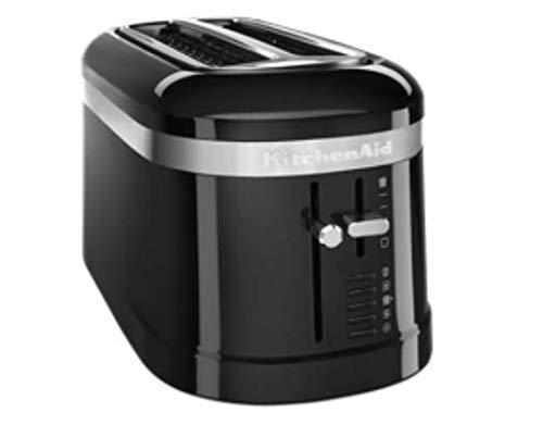 KitchenAid KMT5115OB 4 Slice Long Slot High-Lift Lever Toaster, Onyx Black