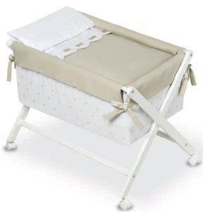 Bimbi Class – Bébé, 68 x 90 x 71 cm, couleur blanc et lin