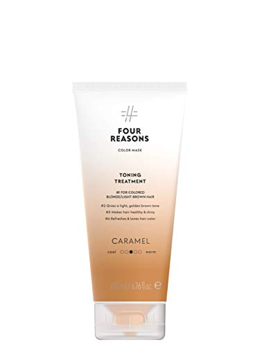 Color Mask Caramel Reconstructive Treatment - Toning Conditioner for for Blonde and Caramel Blonde Color Treated Hair. 6.76 oz (New Packaging)