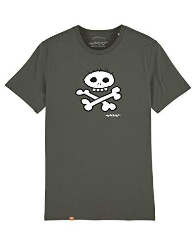 Camiseta Callate La Boca Caqui Calavera Blanca (L)