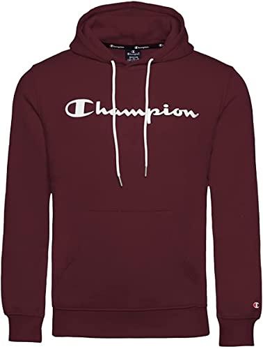 Champion Legacy Classic Logo Sudadera con Capucha, Granate, M para Hombre