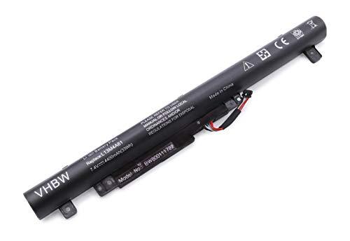 vhbw Akku für Lenovo Flex 2 14 inch und Flex 2 15 inch Serie Notebook Convertible Laptop wie L13S4A61, L13M4A61, L13L4A61- (Li-Ion, 4400mAh, 7.4V)
