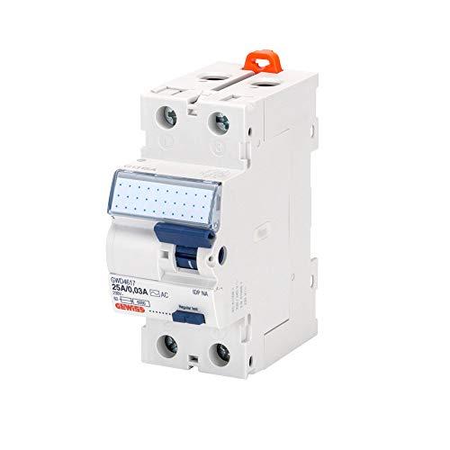 Gewiss - Interruttore Differenziale Puro - Idp Na - 2P 25A Tipo AC Istantaneo Idn=0,03A 230V - 2 Moduli