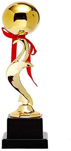 AK Trofeo, trofeo de Fútbol del partido de baloncesto MVP Sala de Trofeos de estar Decoración Deportes Champion Trophy,Oro,9 * 9 * 37cm