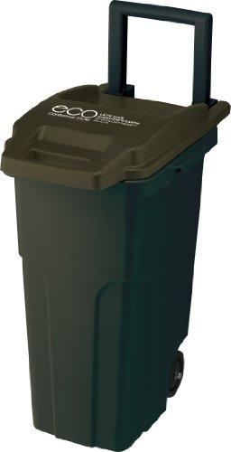 リス『キャスター付ゴミ箱』 コンテナスタイル2 キャスターペールCS2-45C2 45L 2輪 カーキー