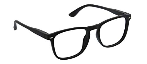 Peepers by PeeperSpecs unisex adult Dylan Focus Blue Light Filtering Reading Glasses, Black, 53 mm US