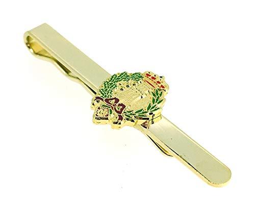 Gemelolandia Pasador de Corbata del Emblema del Arma de Ingenieros del Ejército de Tierra de España | Pisa Corbatas Para usar en Bodas y en Eventos formales - Da un toque Elegante