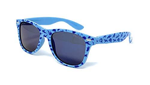 VENICE EYEWEAR OCCHIALI Gafas de sol Polarizadas para niño o niña - protección 100% UV400 - Disponible en varios colores (Azul dinosaurios)