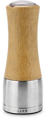ROMINOX Geschenkartikel Gewürzmühle // Holm – Dekorative Salzmühle oder Pfeffermühle, Leicht befüllbar, ergonomische Gewürzmühle, verstellbares Keramikmahlwerk; Maße: ca. 6.3 x 6.3 x 17 cm