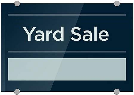 27x18 Yard Sale CGSignLab Basic Navy Premium Acrylic Sign