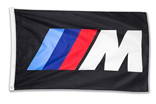 WHGJ Car Flag 3x5 FT Fade Resistant for BMW M Logo IIIM Racing Car Large Garage Decor Banner