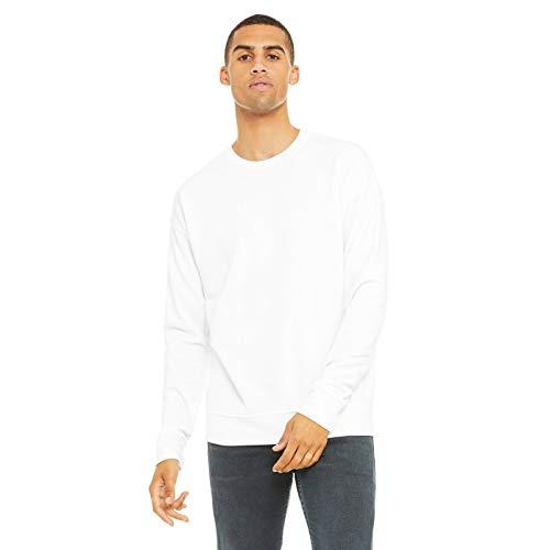 Bella + Canvas Unisex Adult Fleece Drop Shoulder Sweatshirt (XXL) (White)